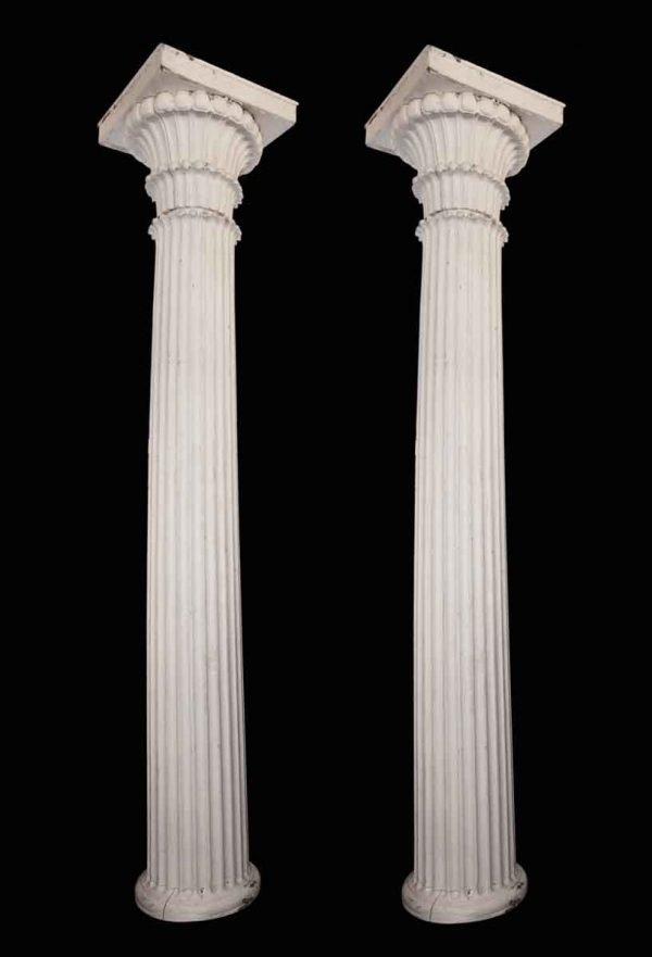 Turn of the Century Fluted Wood Columns