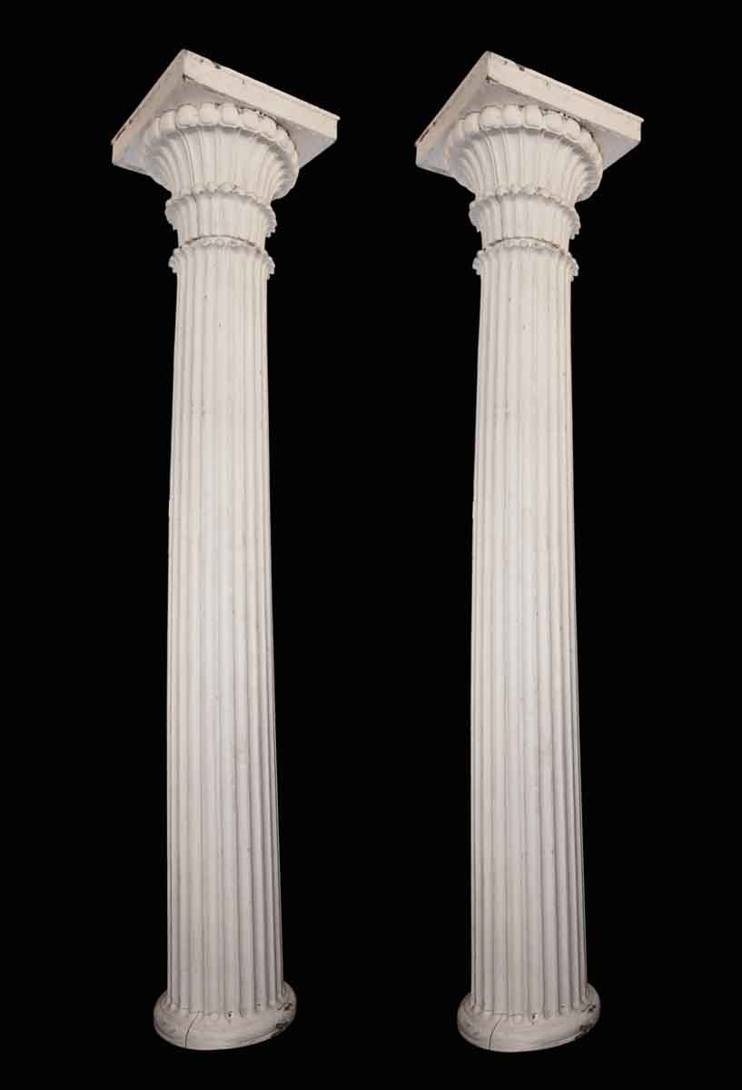 Turn Of The Century Fluted Wood Columns Olde Good Things