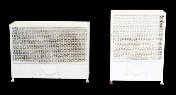 Pair of Matching Ornate Metal Radiator Covers