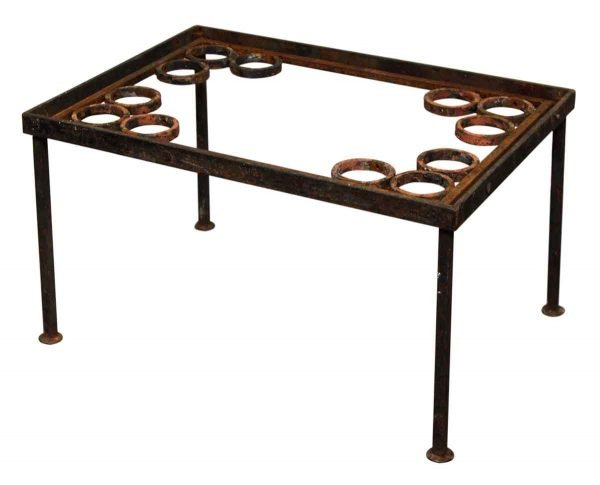 Rustic Iron Table with Circle Designs