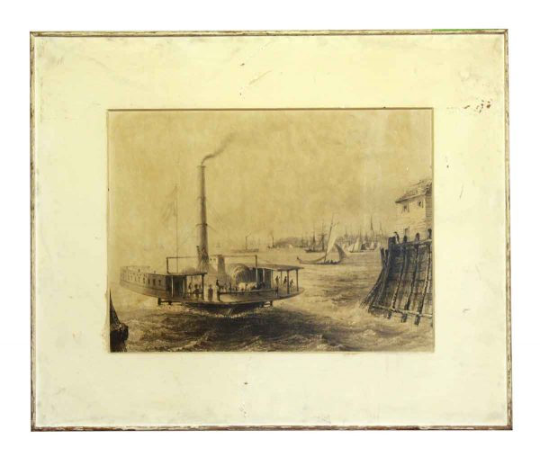 Framed & Matted Large Format Seaport View Photo