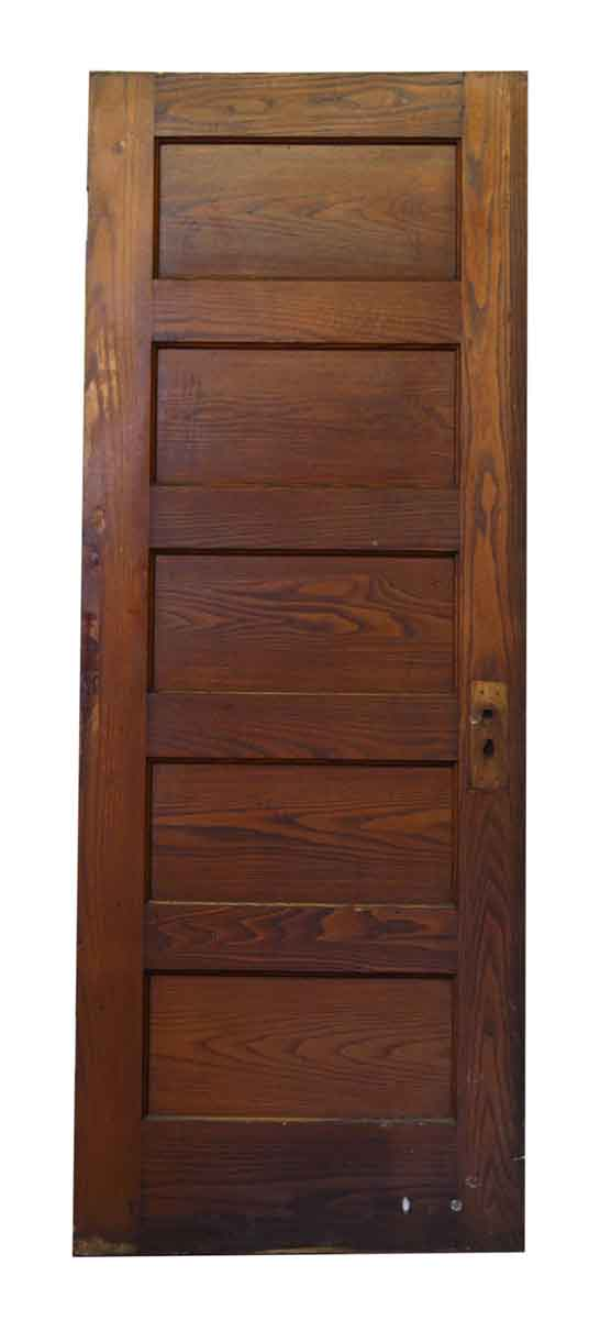 Wood Door with Five Panels