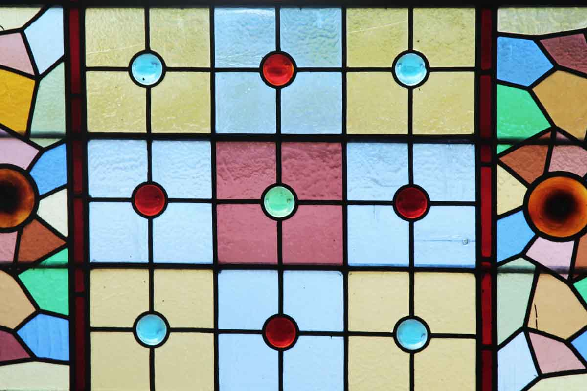 Multi Colored Antique Stained Glass Window Olde Good Things