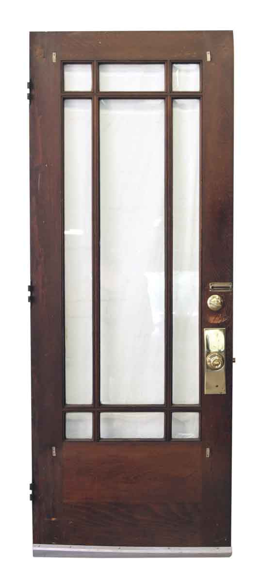 Arts crafts style entry doors with glass panels olde for Entry door glass options