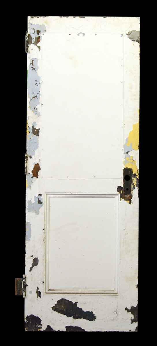 Shabby Chic White Painted Metal Door