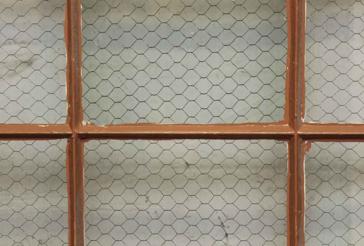 18 Panel Metal Window with Clear Chicken Wire Glass   Olde Good Things