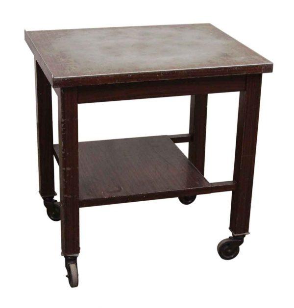 Metal Wheeled Table