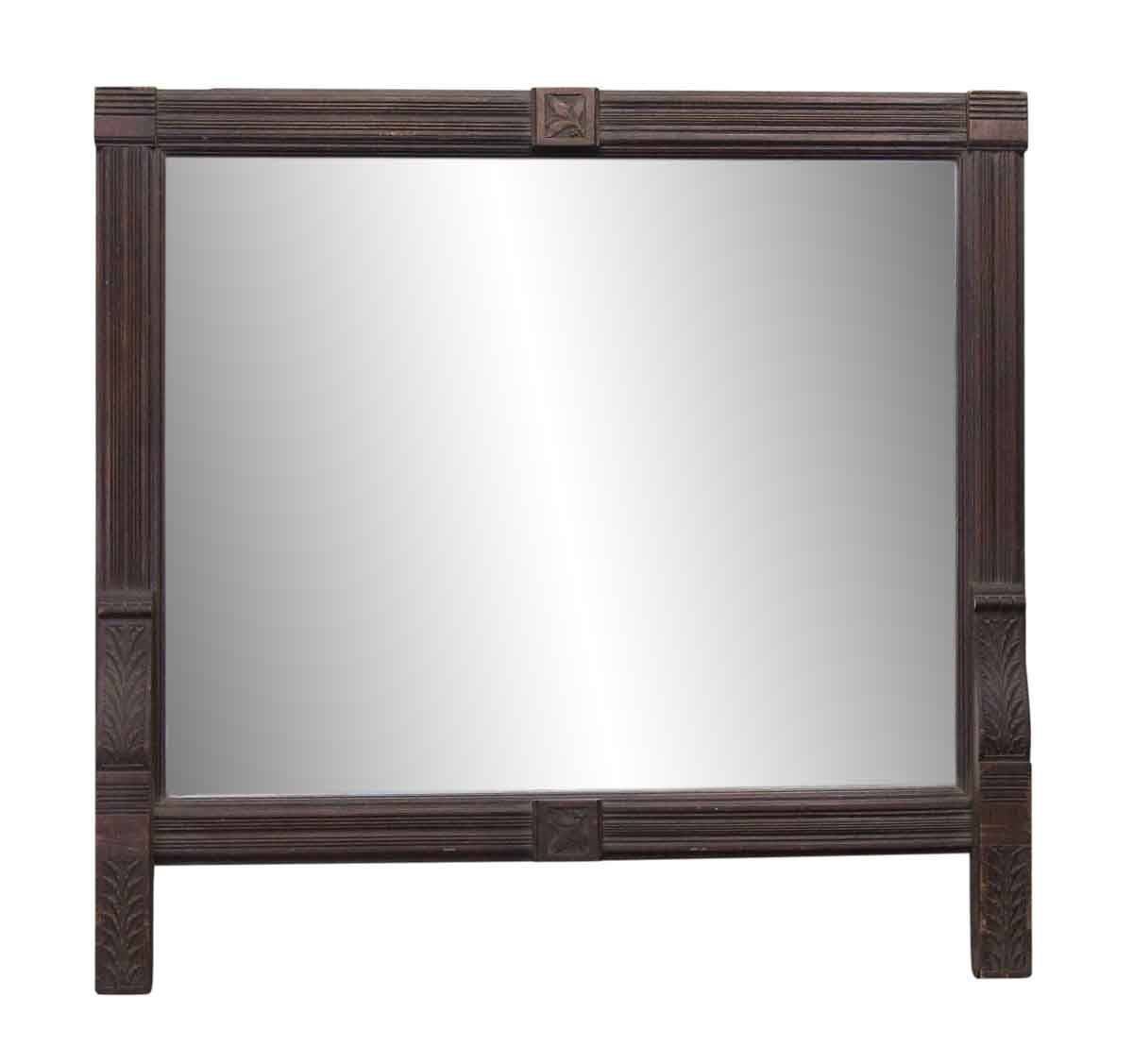 Large handmade wooden mantel mirror olde good things for Mantel mirrors