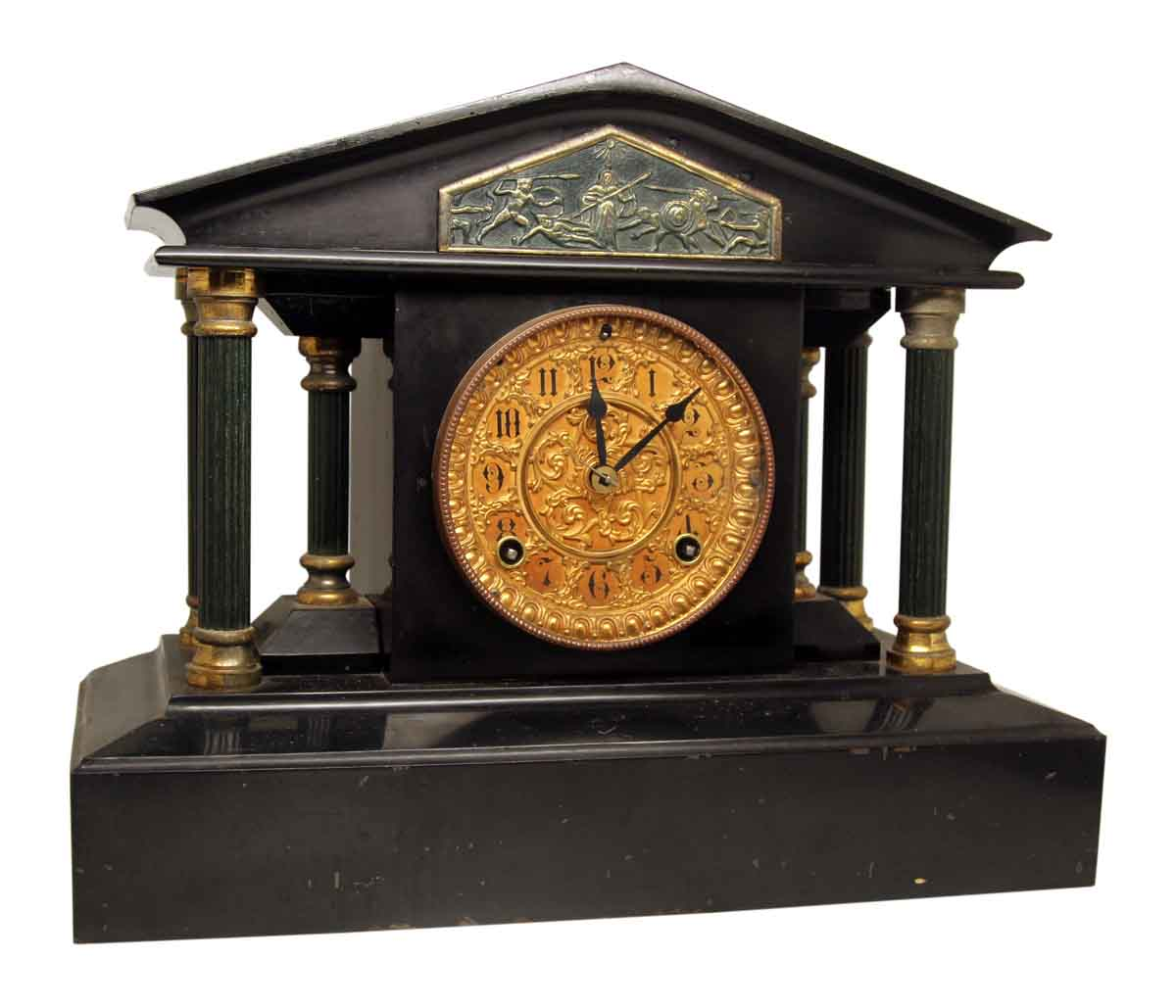 Antique marble mantel clocks for sale