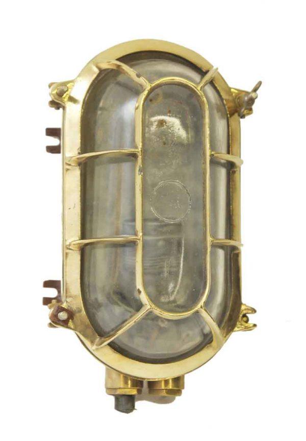Large Oval Brass Ship Sconce