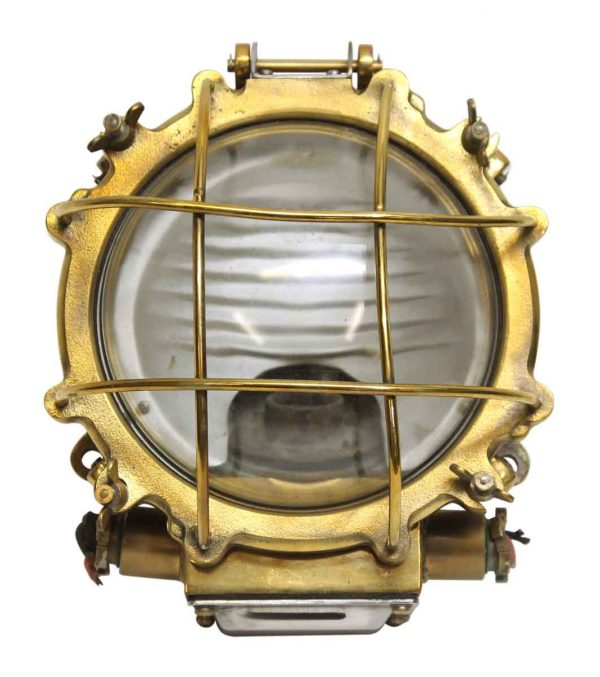 Nautical Round Bronze Cage Ship Light
