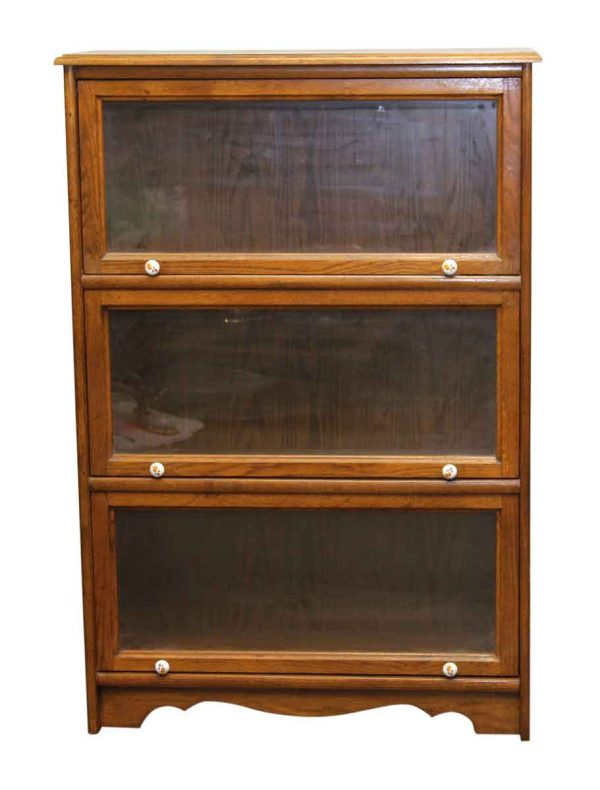 Oak Bookcase with Three Sections