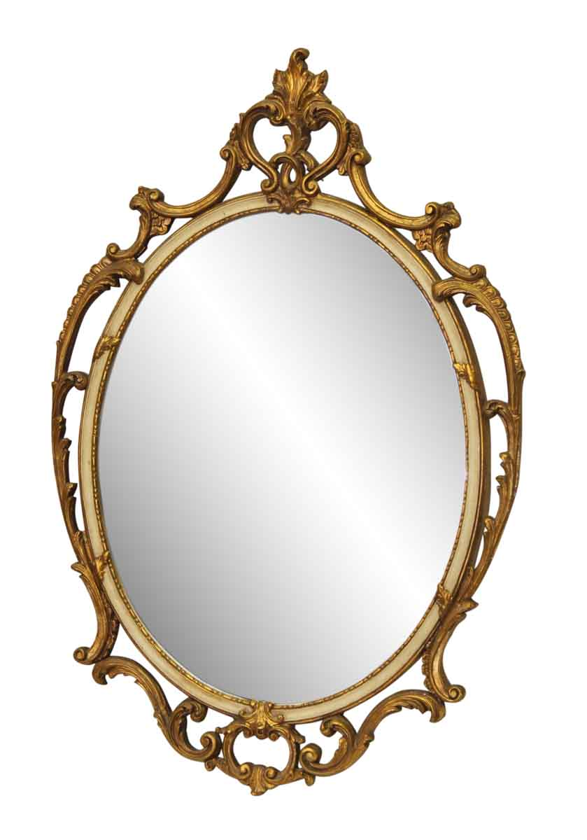 Gilded Ornate Oval Mirror Olde Good Things