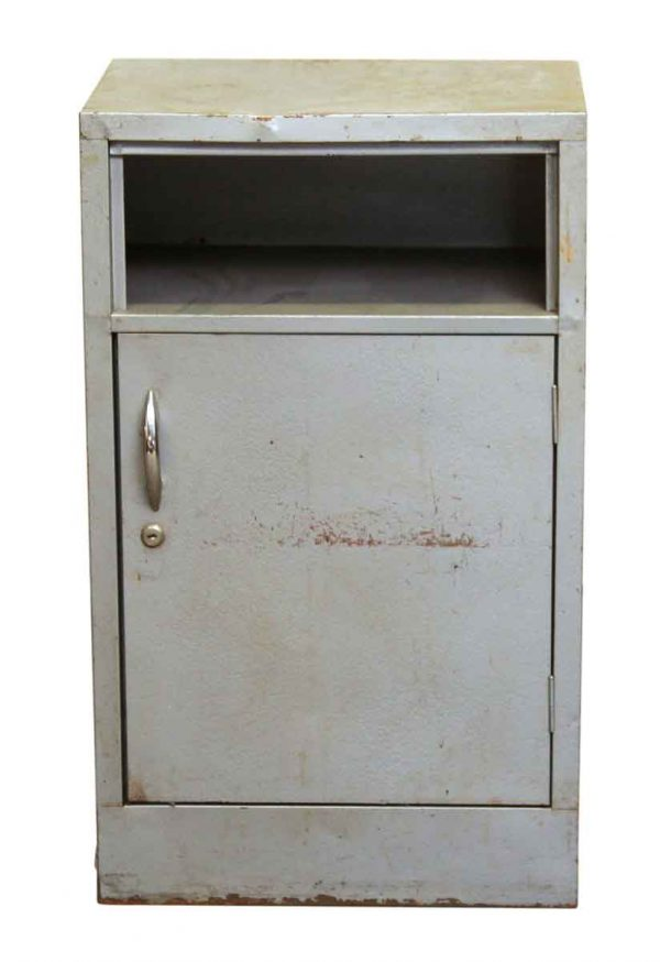 Small Gray Textured Steel Cabinet