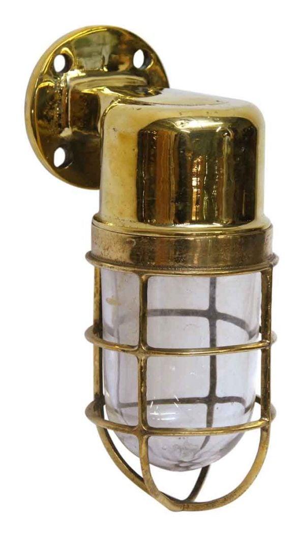 Flat Top Brass Ship Sconce