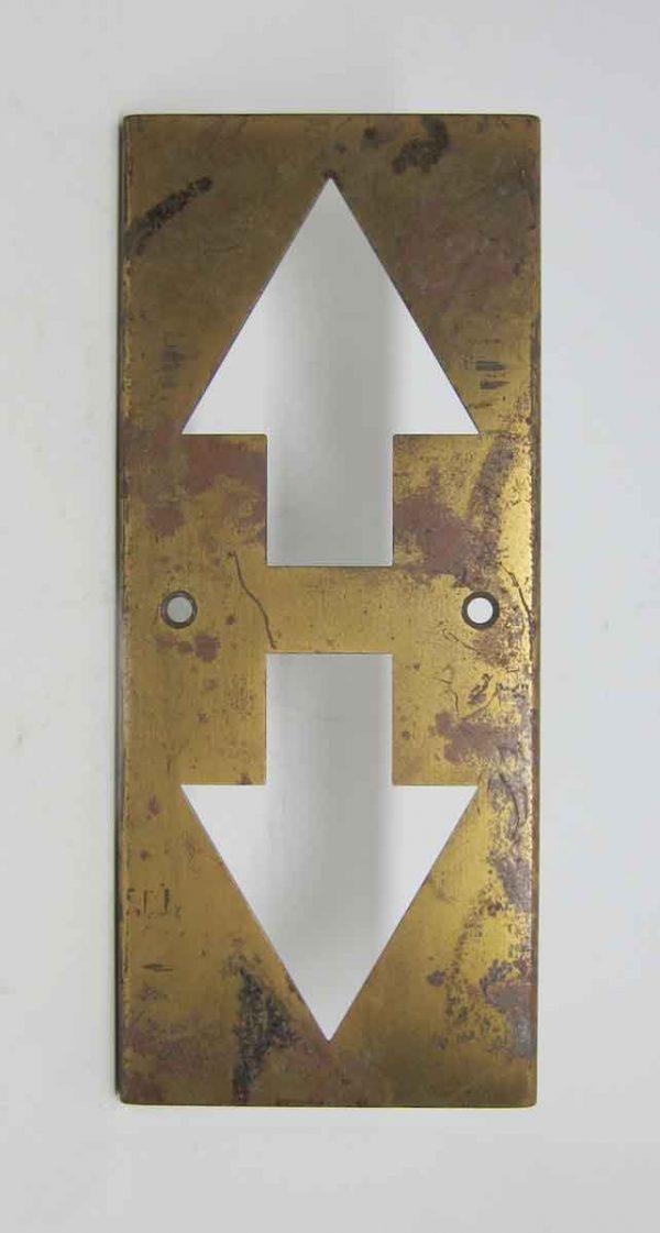 Brass Elevator Floor Arrow Plate
