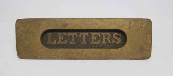 Antique Brass Letter Mail Slot