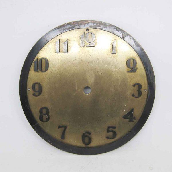 Old Brass & Metal Clock Face