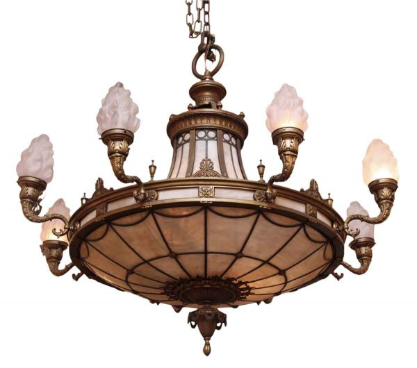 Ornate Bronze Chandelier from Landmark Nyc Building