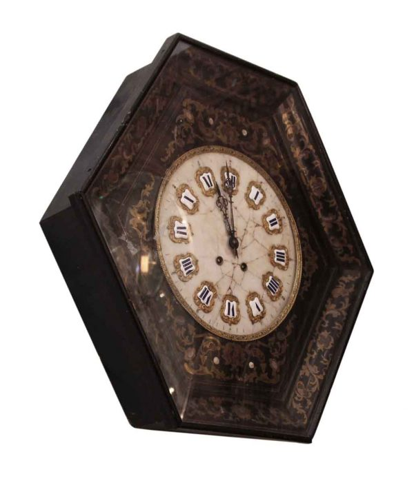 Wall Clock Marble Face & Enamels