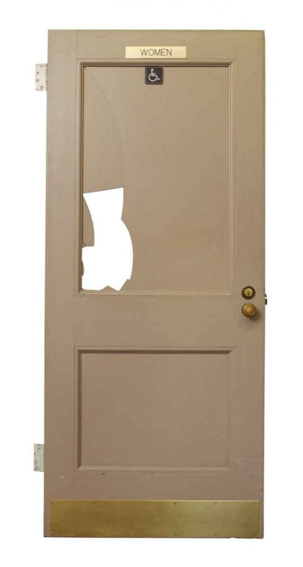 Salvaged Swinging Bathroom Door