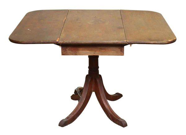 Two Side Leaf Pedestal Table