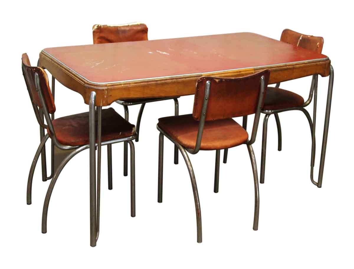 Vintage Dining Room Table Four Chairs Olde Good Things