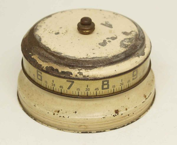 1930s Mystery Rotary Tan Tape Measure Clock