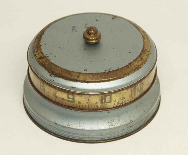1930s Blue Mystery Rotary Tape Measure Clock