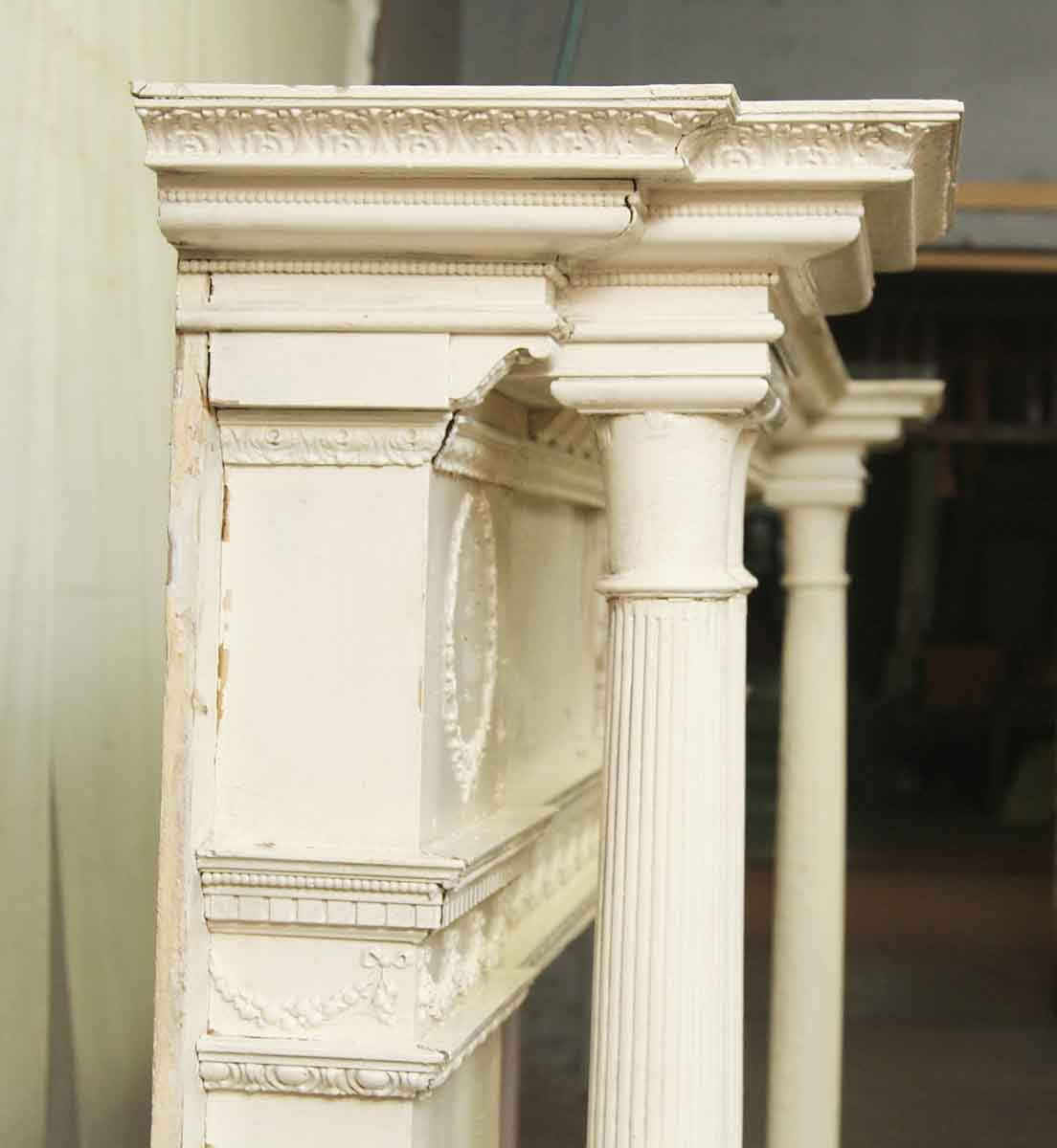 Large Antique Ornate Wooden Mantel Olde Good Things