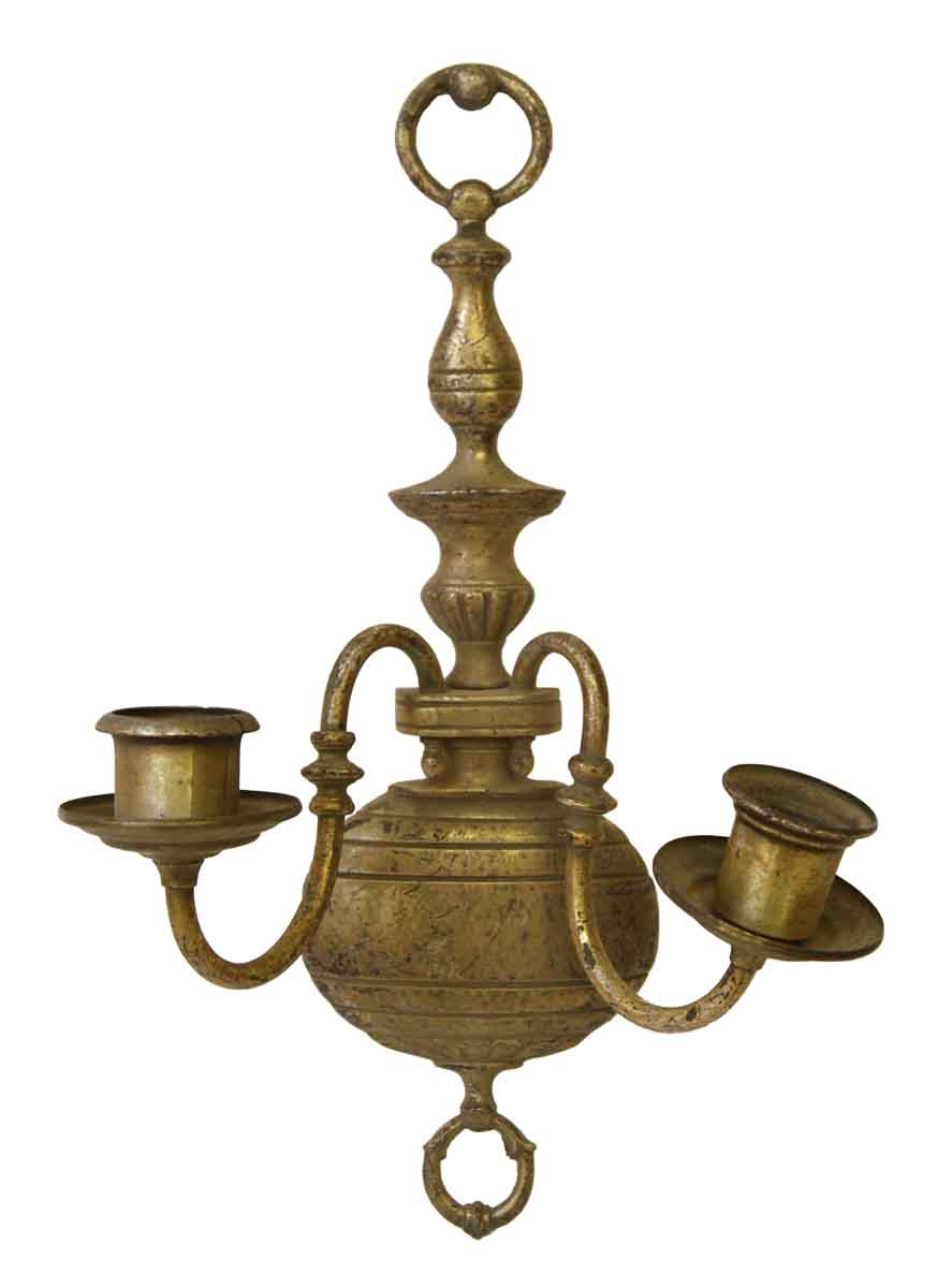 Colonial Brass Wall Sconces : Pair of Colonial Brass Sonces Olde Good Things
