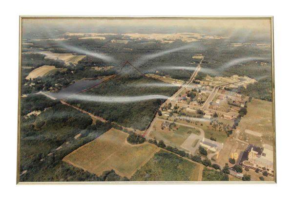 Framed Vintage Aerial Photo