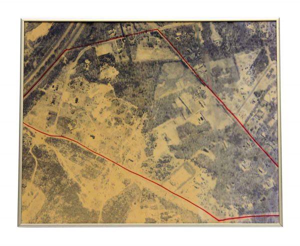 Vintage Framed Aerial Photo