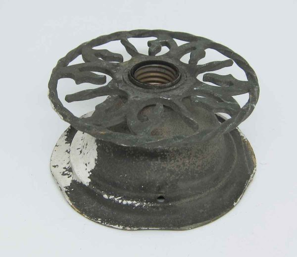 Cast Iron Twisted Circular Flush Mount Fixture