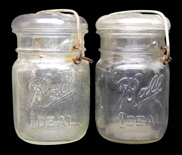 Set of 2 Ball Ideal Glass Jars