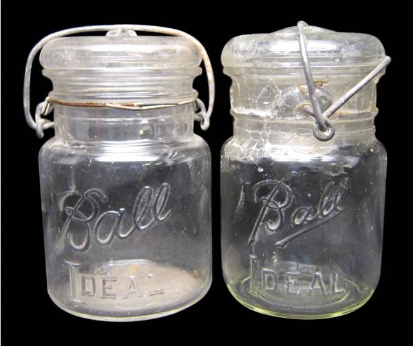Set of Two Canning Ball Ideal Glass Jars