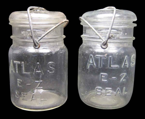 Set of Two Atlas Canning Glass Jars