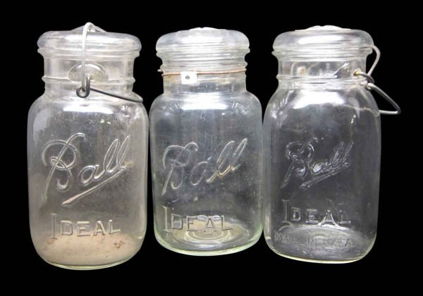 Set of Three Ball Ideal Canning Jars
