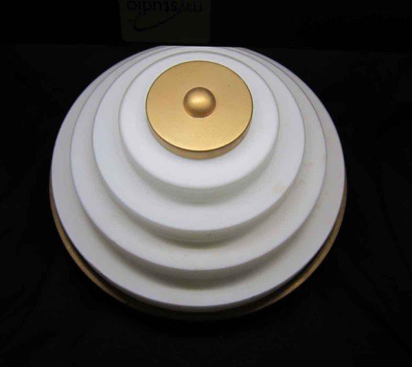 Gold & White Wedding Cake Flush Mount Fixture