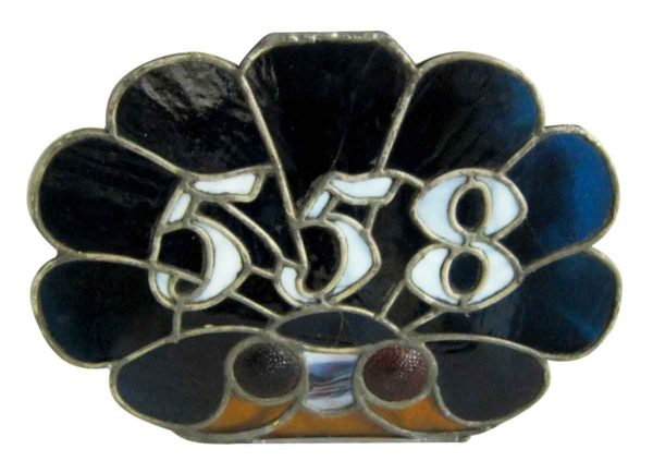 558 House Number Stained Glass