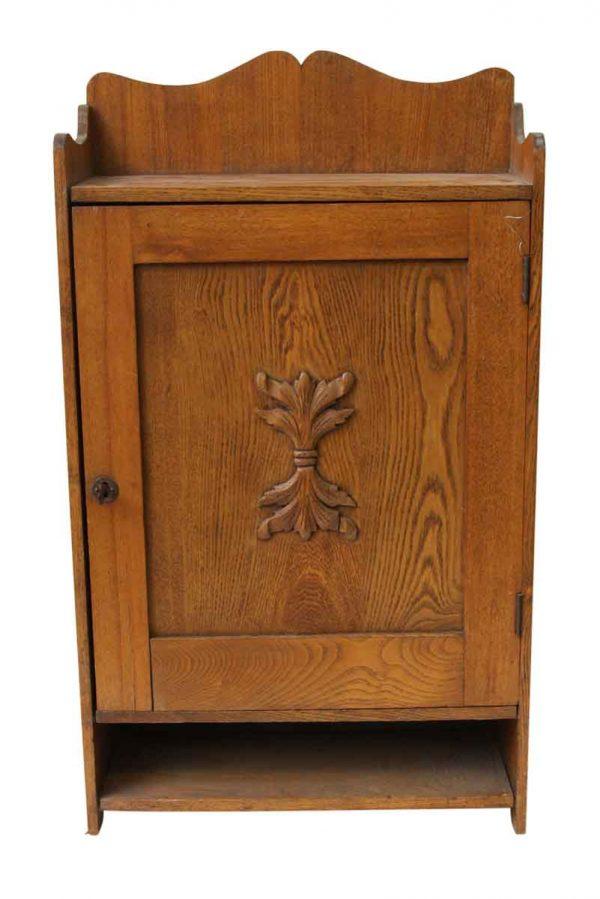 Small Oak Cabinet Spice Rack