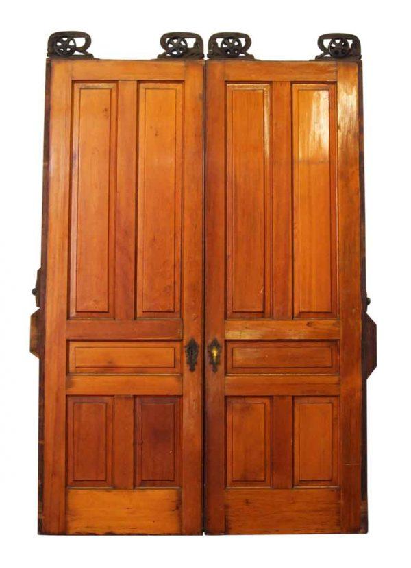 Pair of Pine Pocket Double Doors