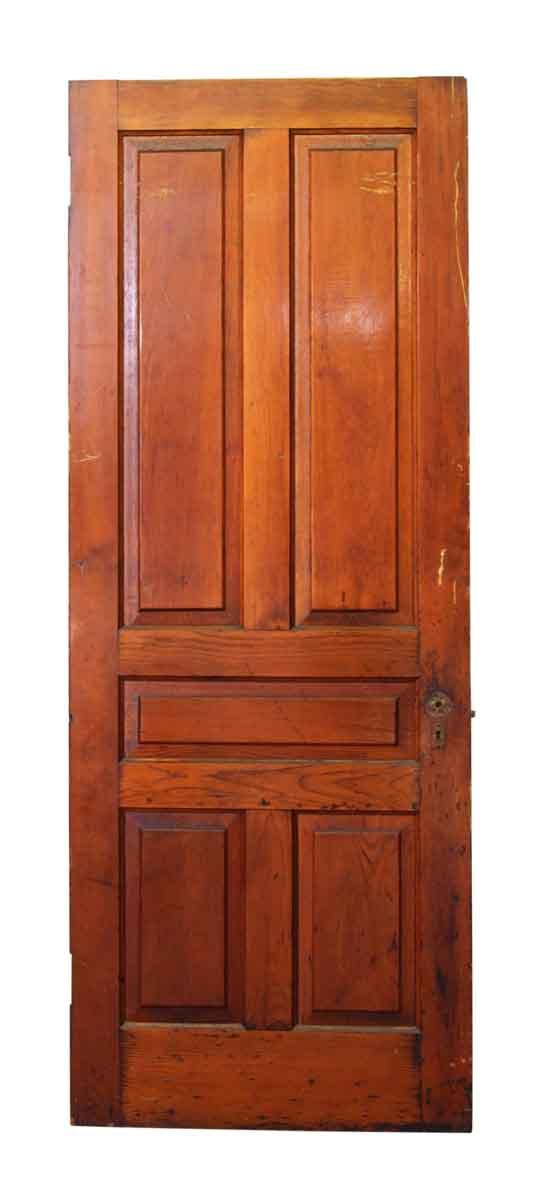 Medium Tone Wood Pine Door