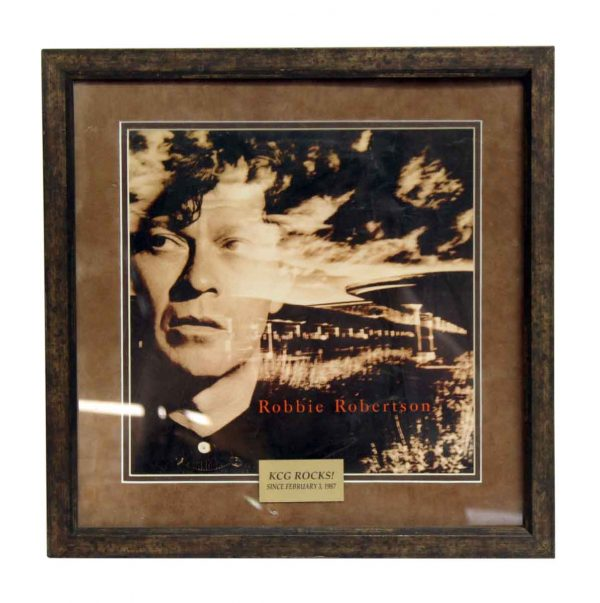Vintage Framed Robbie Robertson Print