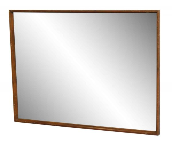 Medium Tone Wooden Frame Mirror
