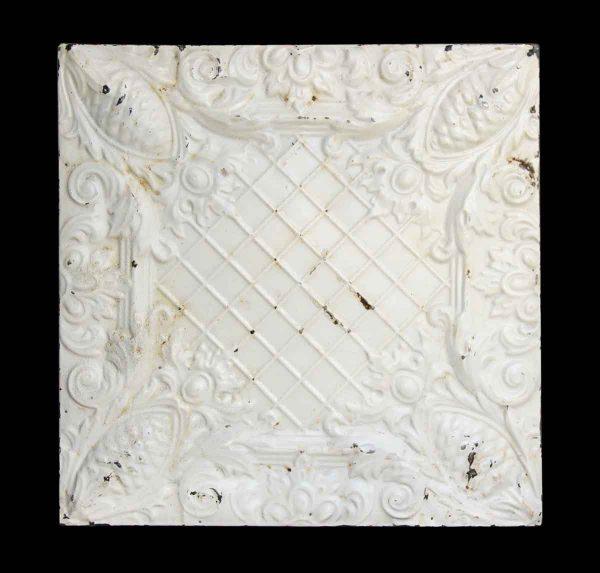 White 4 Fold Tin Panel