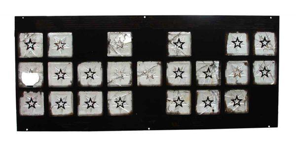 Salvaged Star Block Design Window