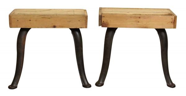 Pair of Vintage Cast Iron Cabriole Legs