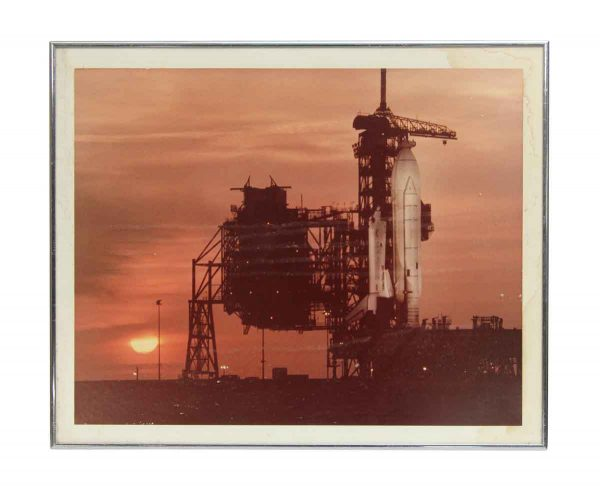 Vintage Space Ship Prelaunch Photograph