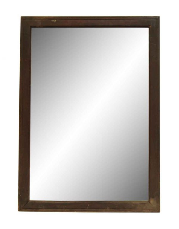 Dark Wood Tone Frame Mirror
